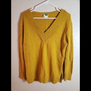Anthropologie Mustard Yellow Pullover Cardigan